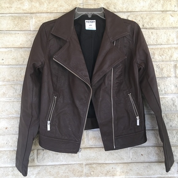 Jackets & Blazers - OLD NAVY faux leather jacket cognac color size S